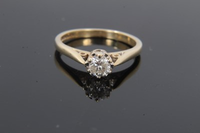 Lot 20 - 9ct gold diamond single stone ring