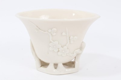 Lot 86 - Chinese blanc de chine libation cup