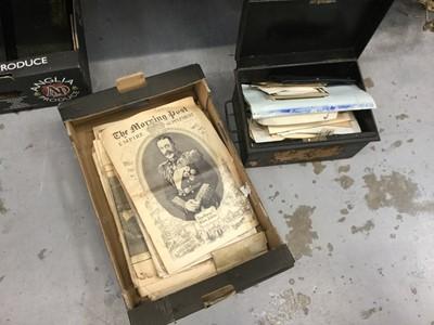 Lot 16-One box of Royal related ephemera together with a tin of photographs and ephemera