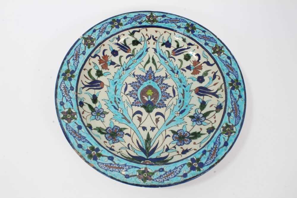 Lot 17-19th century Iznik dish