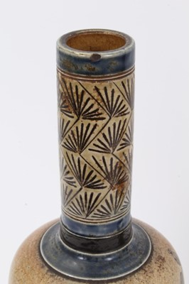 Lot 6-Pair Martin Brothers vases with bird decoration