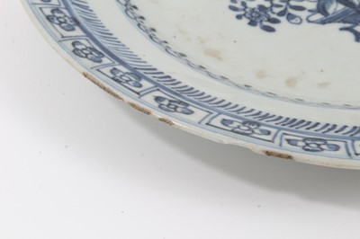 Lot 21-Five 18th century Chinese export plates