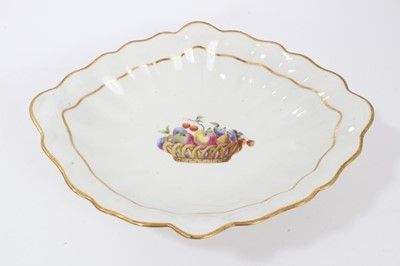 Lot 73 - A Derby centre dish, painted by George Complin, circa 1790