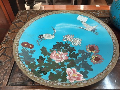 Lot 5-Two Cloisonné plates and two vases