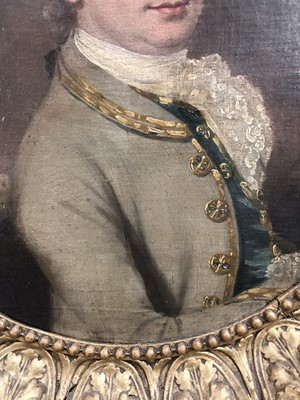 Lot 648 - Portrait of Joseph Green, in his green suit in front of Portugal house 18th Century