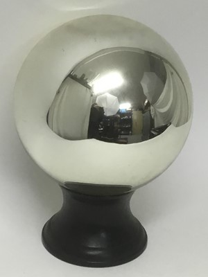 Lot 7-Large witch ball on stand