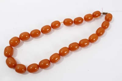 Lot 17-Amber necklace