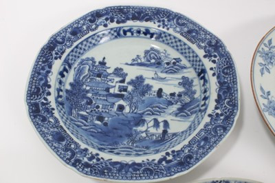 Lot 22-Seven 18th century Chinese export dishes