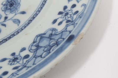 Lot 23-Seven 18th century Chinese export plates