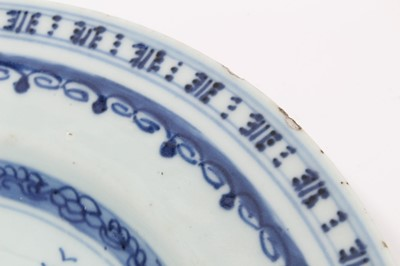 Lot 19-Five 18th century Chinese export plates