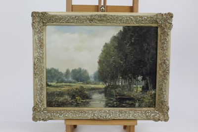 Lot 21-Ted Dyer oil canvas of a river view