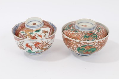 Lot 69 - Two Japanese Imari bowls and covers