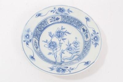 Lot 86 - A rare Bow blue and white deep small bowl, circa 1760