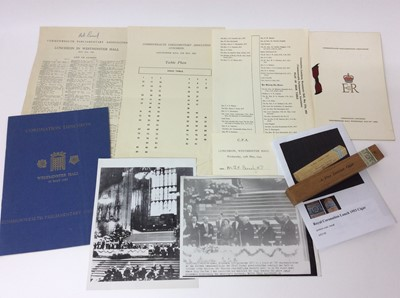 Lot 89 - The Commonwealth Parliamentary Association Coronation Luncheon held at Westminster Hall, Wednesday May 27th 1953- a fine Jamaica cigar - in its original sealed wooden box with printed inscription ,...