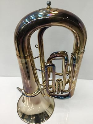 Lot 1-Besson 600 silvered Bb tuba, serial no. 685-711216, 97cm tall