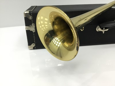 Lot 3-Blessing fanfare trumpet, serial number 266858, in hard case