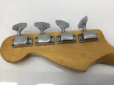Lot 4-Vintage electric bass guitar, stamped Made in Japan