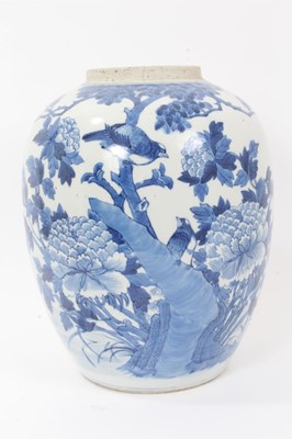 Lot 5 - Chinese blue and white jar