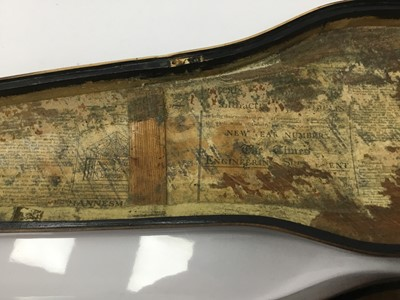 Lot 5-Good quality Victorian honey oak violin case by W. E. Hill & Sons, requires refurbishment, 80cm long