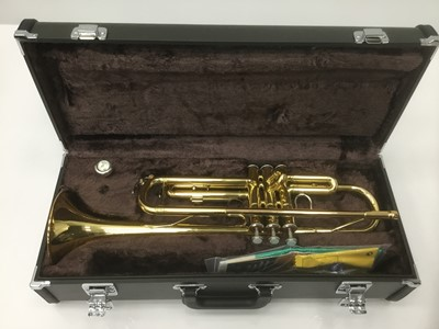 Lot 22-Yamaha trumpet, cased