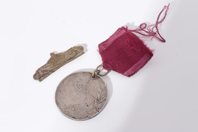 Lot 201-Turkish Crimea medal (French issue), named to Chas. Dargan. 39th Regt.