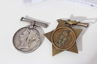 Lot 204-Victorian Egypt medal pair, comprising Egypt medal (1882 - 89), with dated reverse, named to E.Lee. Boy. 1.CL: H.M.S. Invincible. together with a Khedive's Star (1882) (2)