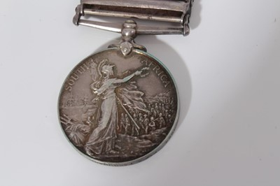 Lot 208-Queen's South Africa medal with four clasps- Cape Colony, Laing's Nek, Belfast and South Africa 1902  named to 3054 Pte. A. Farquhar. Highland L.I.