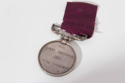 Lot 215-Victorian Army Long Service and Good Conduct medal, named to 8406. Sergt. Farr: B. Jackson. E/4.R.A.