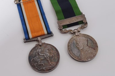 Lot 224-First World War War medal named to 3145 DVR. H.R. Tucker. R.A. together with a George V India General Service medal with one clasp- Afghanistan N.W.F. 1919, named to 866102 DVR. H.R. Tucker. R.A. (...