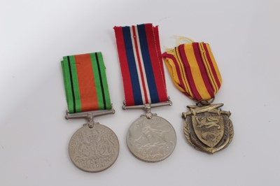 Lot 229-Group of three medals comprising Second World War Defence medal, Second World War medal named to V83717 F.Wraight and Dunkirk Commemorative medal (3)