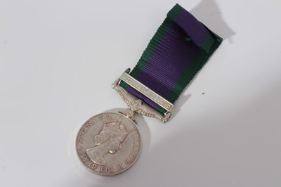 Lot 242-Elizabeth II Post 1962 type General Service medal with one clasp- Northern Ireland, named to PO26844F R.W.P. Manning MNE RM