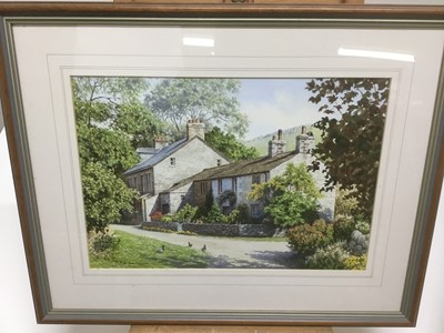 Lot 56 - Roy Lutner (contemporary) watercolour, pair - Swaledale, Yorkshire, Milham, Yorkshire Dales, 24 x 33cm, signed, glazed frames