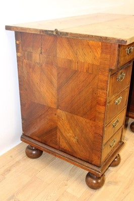 Lot 780 - Highly unusual oyster veneered desk