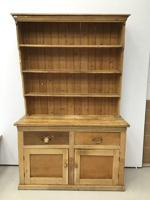 Lot 58 - Victorian pine two height kitchen dresser