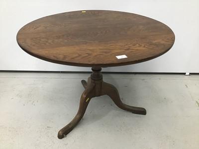 Lot 55 - Georgian oak tripod table