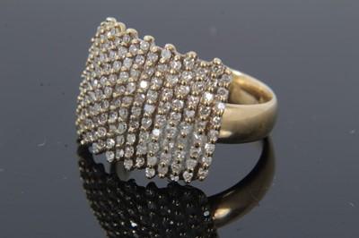 Lot 23 - 9ct gold diamond set plaque ring
