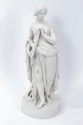 Lot 10 - Victorian Parianware figure of Euterpe