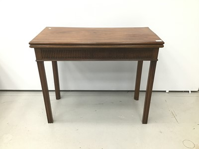 Lot 94 - George III mahogany card table