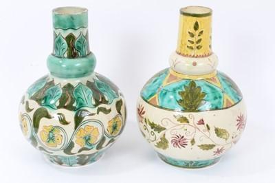 Lot 13 - Near pair of Della Robbia vases