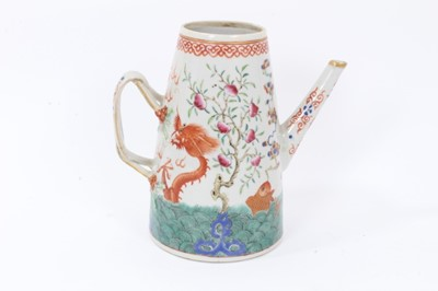 Lot 20 - Antique 19th century Chinese porcelain coffee pot