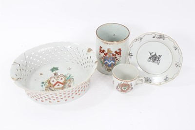 Lot 29 - Group of 18th century Chinese armorial porcelain