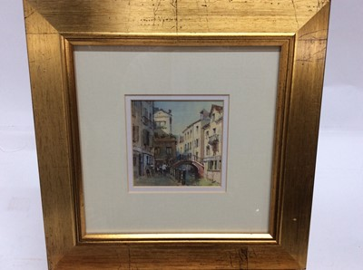 Lot 83 - George Bushby MCSD, RBSA, GRA, FRSA (1926-2002) watercolour - Ponte dei Carmini, Venice