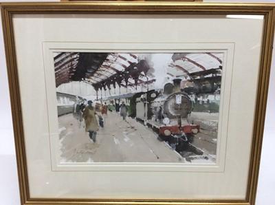 Lot 87 - John Yardley (b. 1933) watercolour - Brighton Train Station