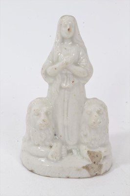 Lot 64 - French? Porcelain figure of Saint Blandina of Lyon