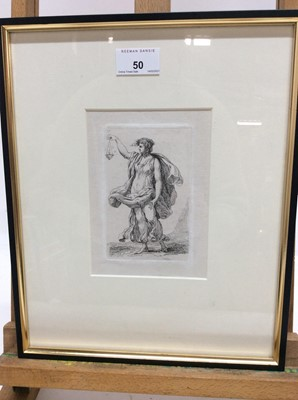 Lot 50 - Group of 18th and 19th century engravings to include figures, Raphael, a profile of London and others, each framed and glazed (8)