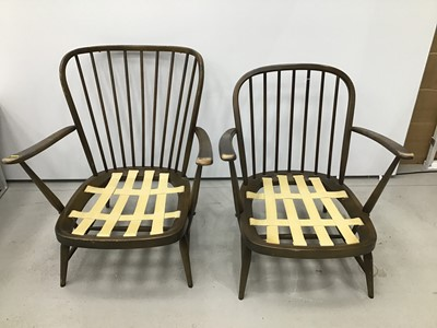 Lot 60 - Pair of Ercol elbow chairs