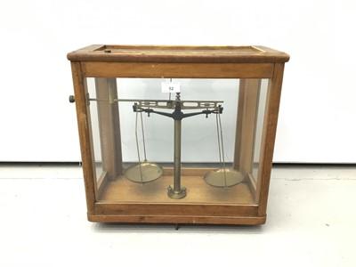 Lot 52 - Antique chemists balance scales