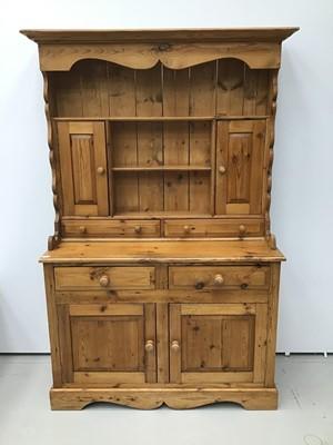 Lot 54 - Pine high dresser