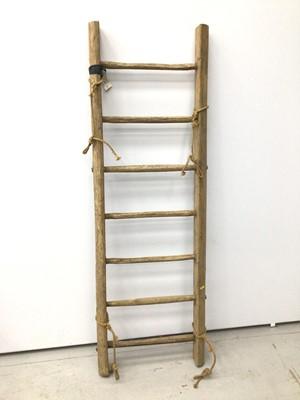 Lot 85 - Antique handmade ladder