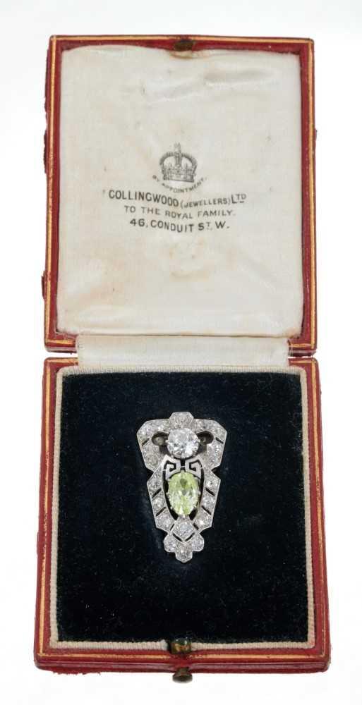 458 - Fine Art Deco Diamond dress clip retailed by Collingwood